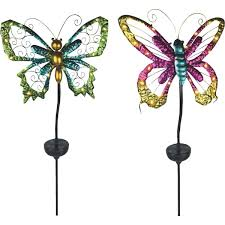 moonrays solar butterfly stake light lawn ornament 92511fd do it
