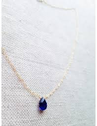 sapphire chain necklace images Sapphire september birthstone gold filled chain necklace s for jpg