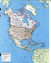 Map Of Nirth America by North America Atlasgeographic Maps Of America