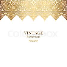 vintage vector card in islamic style seamless lace ornament border