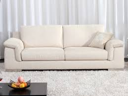 canapé tissu beige canapé fixe tissu cécilia 3 places beige 53976 53977