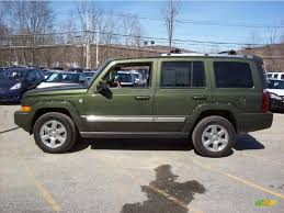 jeep green jeep green metallic 2007 jeep commander overland 4x4 exterior