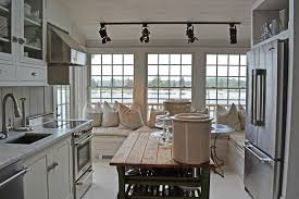 cottage kitchen island cottage kitchen with glass panel kitchen island in southton