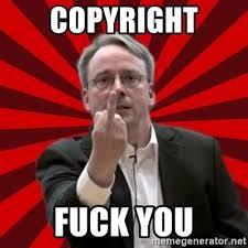 Meme Generator Copyright - copyright fuck you angry linus meme generator