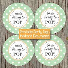 party favor labels shes ready to pop sticker printable by bumpandbeyonddesigns on zibbet