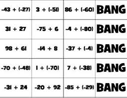 bang adding and subtracting integers subtracting integers