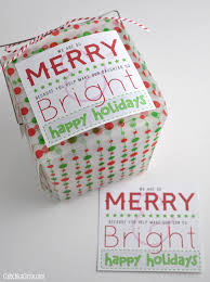 merry u0026 bright holiday gift tag printables for friends u0026 teachers