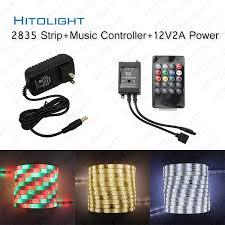 music led strip lights hitolight music led strip light 5m 2835 smd 60 leds m rgb strips