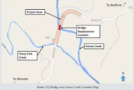 511 Org Traffic Map Route 122 Moneta Road Bridge Replacement
