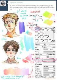 paint tool sai text brushes google search art references