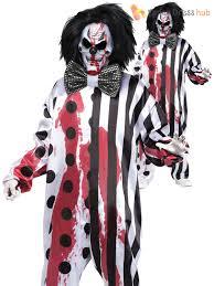 Scary Guy Halloween Costumes Bleeding Killer Clown Costume Halloween Horror Scary Mens