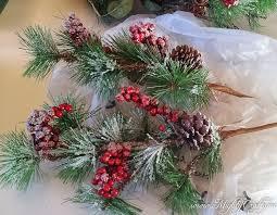 christmas picks mightycrafty easy updated christmas wreath