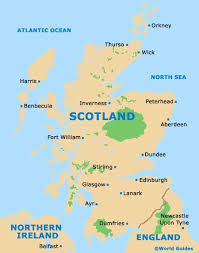 map of scotland and aberdeen maps and orientation aberdeen scotland