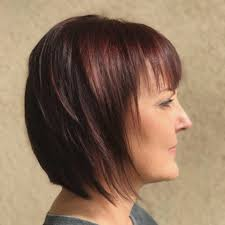 hairstyles short haircut with a long fringe silvery