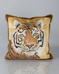 strongwater pillows strongwater tiger pillow 18 sq