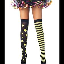 cute stockings cute stars stripes yellow rave stockings socks os from mikki s