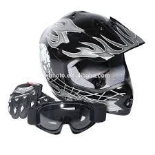 baby motocross gear youth black silver skull for dirt bike for atv motocross helmet