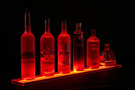 led lighted bar shelves amazon com 25 inch acrylic led illuminated liquor shelves lengh 2