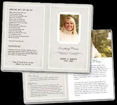 memorial program ideas funeral service programs