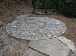 Paver Patio Kits Steve Snedeker S Landscaping And Gardening Superb Circle