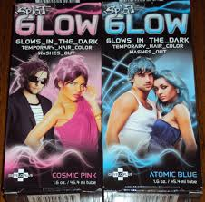 Halloween Hair Color Washes Out - splat glow in the dark temporary hair dye color gel cream purple