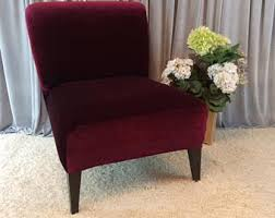 Navy Parsons Chair Slipcover Brown Velvet Chair Cover For Armless Chair Slipper