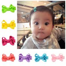 baby girl hair accessories hot sale hair small ribbon bow hairpins barrettes