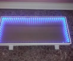 Infinity Mirror Desk Infinity Mirror Coffee Table 5 Steps With Pictures