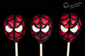 spiderman cake pops spider man