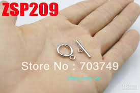 stainless steel necklace clasp images Stainless steel necklace circle toggle clasps set bracelet jpg