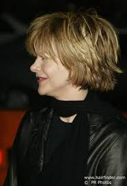meg ryan s hairstyles over the years cutting techniques for meg ryan s tousled out of bed look