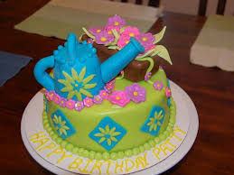 watering can garden birthday cake cakecentral com