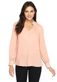 pleated blouse split neck pleated blouse the limited