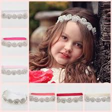 baby girl hair bands wedding headdress baby girl headbands rhinestone