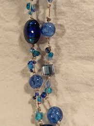 etsy beads necklace images Beach blue glass bead necklace etsy handmade kate black designs jpg
