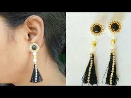 home made earrings diy silk thread tassel earrings simple and easy tassel