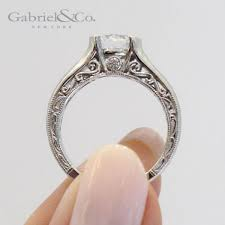 gabriel and co engagement rings kiera 14k white gold solitaire engagement ring er9058w44jj