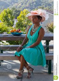 tea party hats beautiful with hat stock photo image 44897796