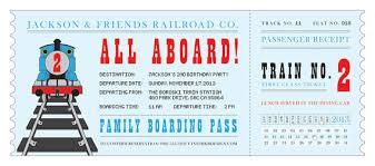 train ticket birthday invitations inspired by thomas the train