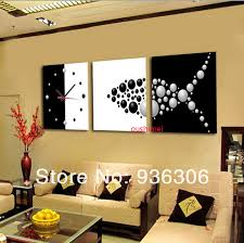 painting for home decoration hand painted paintings abstract clock pictures on canvas painting