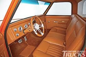 Custom Classic Mini Interior This Orange Pearl Chevrolet C10 Truck Is A True Classic