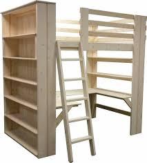 wall of shelves loft bed custom made in usa