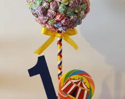 Lollipop Topiary Tree - luau dum dums topiary centerpiece candy station theme party