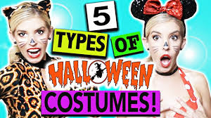 5 types of halloween costumes youtube