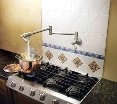 pot filler kitchen faucet extraordinary kitchen stove water faucet pictures kitchen