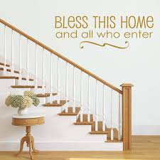 home sweet home wall sticker quote by aijographics bless this home quote hallway wall sticker