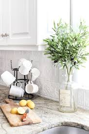 tin backsplash kitchen diy pressed tin kitchen backsplash bless er house