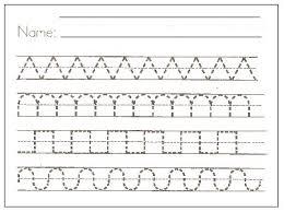 free printable preschool writing pattern worksheets to writing