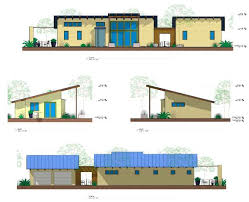 Long Narrow House Floor Plans Ojai California New Contemporary Skinny Green Home