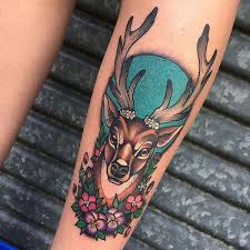31 amazing deer tattoos with antler best designs with meaning